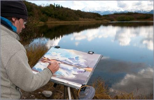 """""""Painting Mirror Lake"""""""