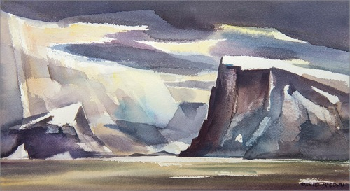 """Leaving Scott Inlet, Baffin Island"""